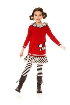 NWT Deux Par Deux Fizzy Pop Dress with Flounces and Paint Swirls