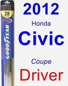 Driver Wiper Blade for 2012 Honda Civic - Hybrid