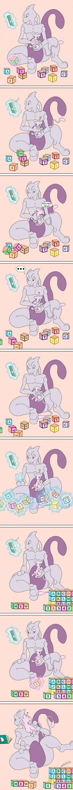 Psychic Buddies --- awwww this is really cute Pokemon Mew, Lucario Pokemon, Mew And Mewtwo, Pokemon Comics, Pokemon Funny, Poker, Love Psychic, Online Psychic, Art Manga