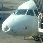 Avião da TAM tem bico amassado por choque com ave em voo BH-Rio