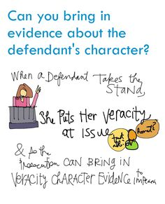 An evidence law sketch, all around bringing in evidence that goes to the defendant's character. School Staff, Law School, School App, Police Officer Requirements, Law Enforcement Jobs, Exam Motivation, Criminal Procedure, Exams Tips