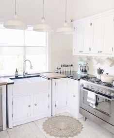 I love white kitchens?  not for everyone...what about you? xx
