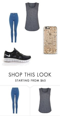 """""""Untitled #708"""" by karinacabrera ❤ liked on Polyvore featuring Topshop, NIKE, Elie Tahari and Casetify"""