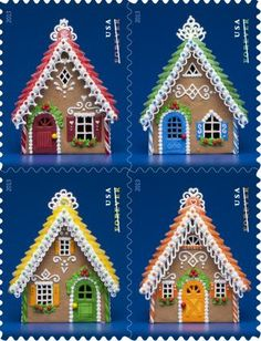 The houses featured on the stamps were created by Teresa Layman and photographed by Sally Andersen-Bruce. Inspiration for them came after An...
