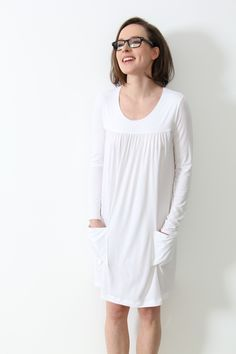Nachthemd in Weiß