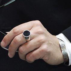 Add a little class to your outfit. We offer a huge selection of scratched up rings, but we also off the same styles in polished sterling silver for the dapper guy. How To Wear Rings, Turkish Jewelry, Signet Ring, Custom Engraving, Fashion Rings, Rings For Men, Fine Jewelry, Sterling Silver, Outfit