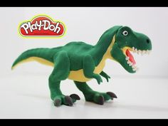 Learn how to Make T Rex dinosaur for kids using Play doh - YouTube