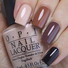 Beige Ombré. All polishes are @opi_products from the #opiwashingtondc Collection for Fall 2016. Starting with pointer finger - Pale to the Chief, inside the Isabelletway, Squeaker of the House and Shh...It's Top Secret.