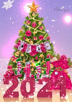 Mimi Gif: 2021 Christmas Tree Gif, Merry Christmas Wallpaper, Merry Christmas Pictures, Christmas Scenery, Christmas Messages, Merry Christmas And Happy New Year, Christmas Love, Christmas Greetings, Xmas Gif