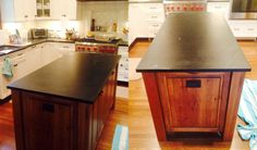 Noir Soapstone countertop and perimeter in this beautiful kitchen - www.gardenstatesoapstone.com Soapstone Counters, Countertops, Beautiful Kitchens, Home Decor, Vanity Tops, Decoration Home, Room Decor, Interior Design, Home Interiors