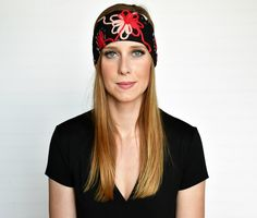 Our black knit beanie hat features a fabric patch printed with MOM WIFE BLESSED. Boho Headband, Fabric Patch, Knit Beanie Hat, Black Knit, Shop Now, Coral, Mom, Flower, Shopping