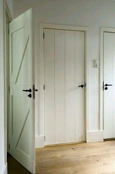 Farmhouse Interior Doors - Interior doorways are as crucial as exterior doorways. Within a house or a building, interior do Door Design, House Design, Exterior Design, Casa Patio, House Doors, Cabin Doors, White Doors, Interior Barn Doors, Farmhouse Interior Doors