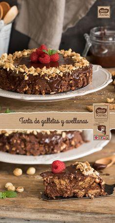 Tarta de galletas y avellanas Pie Dessert, Dessert Recipes, Desserts, Berry Pie, Bread Cake, Sweet Bread, Cupcake Cakes, Sweet Tooth, Bakery