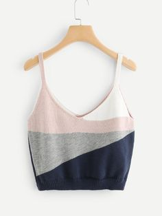 SheIn offers Color Block Knit Cami Top & more to fit your fashionable needs. Source by popilerstyle clothes Crop Top Outfits, Cute Casual Outfits, Plus Size Outfits, Summer Outfits, Teen Fashion Outfits, Womens Fashion, Crochet Tank Tops, Jugend Mode Outfits, Mode Top