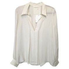 9a2c37ce49 Ivory buttonless shirt