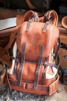 leather adventure bag