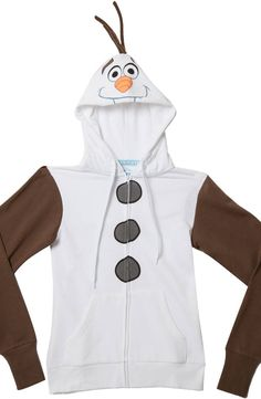 Ladies Olaf Costume Hoodie 836b6e6a6e86