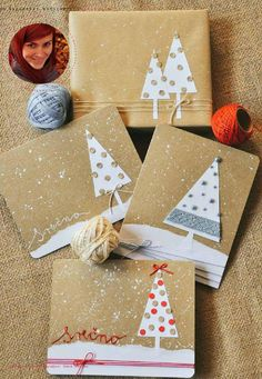 Hand Made Holiday Cards | Zima 2015 Winter 2015