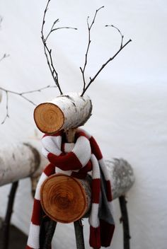 tree stump reindeer - Google Search