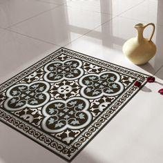 tiles decals rug, floor sticker,  tiles floor decal