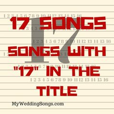 Top 17 Songs With Seventeen In The Title