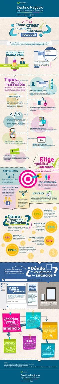 Cómo crear una campaña publicitaria en Facebook Ads #infografia