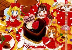 Yumeiro Patissiere - Happy Valentine Yumeiro Patissiere, Shoujo, Gingerbread Cookies, Cover Art, Chibi, Anime Art, Birthday Cake, Valentines, Kawaii