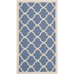 Safavieh Courtyard Amber Power-Loomed Indoor/Outdoor Area Rug or Runner, Blue