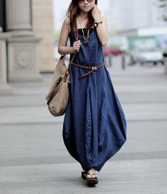 Maxi Dress Unique Sundress Summer Long Dress (more colour and size choice)