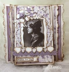 Lene'S Stempelkrok: DT Papirdesign- Et tryllekort Chabby Chic, Magic, Frame, Cards, Vintage, Home Decor, Picture Frame, Decoration Home, Room Decor