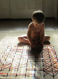 Guest Blog: Make Your Own Giant Geoboard - - Pinned by #PediaStaff. Visit http://ht.ly/63sNt for all our pediatric therapy pins