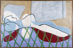 """¿Sabías que hay una pintura de #Picasso en la colección de @MNBAArgentina? Es esta """"Mujer acostada"""" de 1931."""