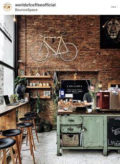 Trendy decor bohemian kitchen home 23 ideas - Modern Rustic Coffee Shop, Vintage Coffee Shops, Cozy Coffee Shop, Rustic Cafe, Coffee Shop Interior Design, Coffee Shop Design, Restaurant Interior Design, Cozy Cafe Interior, Deco Cafe