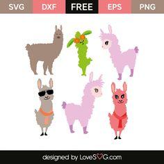 *** FREE SVG CUT FILE for Cricut, Silhouette and more ***  Llama Designs