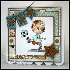 Vixx Handmade Cards: DIGISTAMP BOUTIQUE DT CARD ~ FOOTBALL DAN..