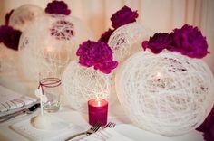 DiY: lámparas de lana para decorar tu boda