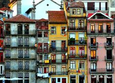 Colors of Porto - Porto, Portugal Spain And Portugal, Portugal Travel, Round The World Trip, Azores, Lisbon, Travel Inspiration, Europe, Mansions, House Styles