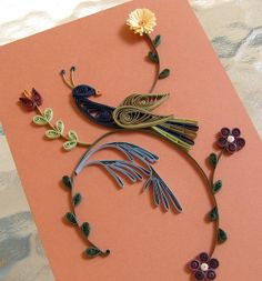 Quilled Distelfink by all things paper, via Flickr