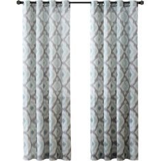 Lend a pop of pattern to your den or master suite ensemble with this lovely cotton curtain panel, featuring an ikat pattern.Product: ...