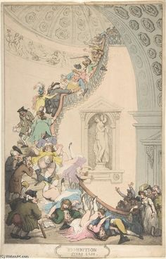 Thomas Rowlandson: Exhibition ''Stare'' Case, c.1800