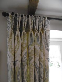 Simple Dress Curtains With Double Pinch Pleat Heading