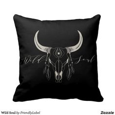 Wild Soul Throw Pillows