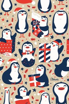 """Christmas Penguins"" by Greg Abbott."