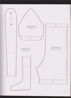 Тильда Пиноккио: выкройка куклы из книги Tone Finnanger «Tildas Vintereventyr»
