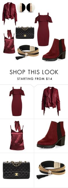 """""""Crimson Life"""" by bridgetmulcahy2019 on Polyvore featuring New Look, Sans Souci, Chanel and Simons"""