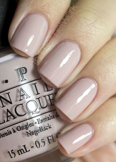 OPI Germany 2012- My Very First Knockwurst. A great pinky nude, one of my favourites.