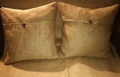 5 Day Sale 1 Burlap Pillow Cases 18x18 with Buttons Highest Quality Best price on Etsy