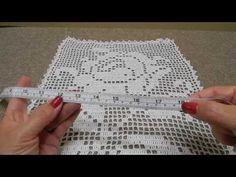 Uvas en Crochet Rectangulo para mantel o cortina - YouTube