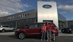 Thomas and Jill's new 2017 FORD ESCAPE! Congratulations and best wishes from Kunes Country Ford Lincoln of Delavan and DAN & TINA SCHLITT.