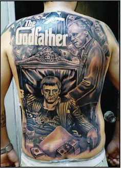 Tony Montana Scarface back tattoo